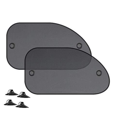 Gneric YMYGBH Auto Sonnenschutz 2 / 4PCS Fenster-Sonnenschutz-Abdeckung Block for Kinder Auto-Seitenscheibe Shade Cling Sonnenschutz-Farbton-Abdeckungs-Masken-Schild-Schirm (Color : 2PCS B)