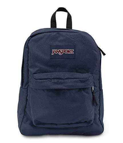 JanSport, Superbreak Backpack, Navy Blue, One Size.