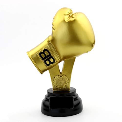GYFSLG Guantes De Boxeo, Trofeo, Resina, Artesanía, Competencia De Boxeo, Recompensa, Recuerdo, Logotipo Personalizado, Texto, 17 * 12 * 29 Cm