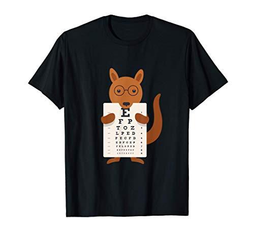 Australia Canguro Gafas Óptica Ojos Pizarra Prueba ocular Camiseta
