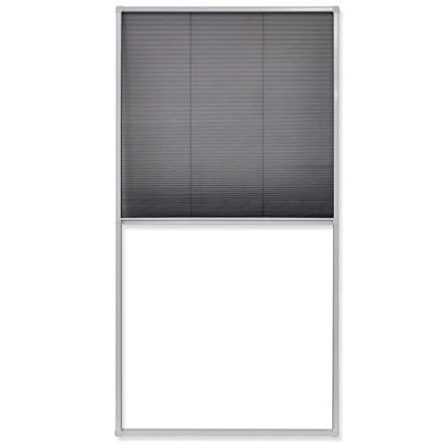 vidaXL Plisee Insektenschutz Dachfenster Fliegengitter Alu Fliegennetz 160x80 cm