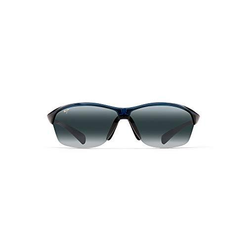 Maui Jim Hot Sands w/ Patented PolarizedPlus2 Lenses Polarized Sport Sunglasses, Blue/Neutral Grey Polarized, Medium