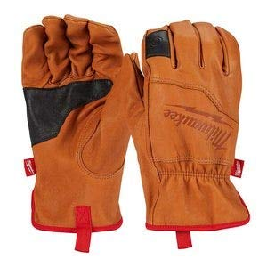 Milwaukee Tools Soft Top Grain Goatskin Leather Work Gloves (Large)
