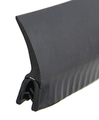 DF5 Dichtungsprofil von SMI-Kantenschutzprofi mit Dichtung oben aus EPDM Moosgummi - einfache Montage selbstklemmend ohne Kleber - Klemmbereich 2-4 mm (3 m)