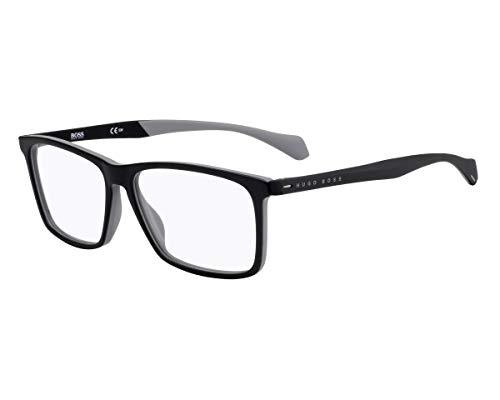 Hugo Boss Brille (BOSS-1116 08A) Acetate Kunststoff schwarz matt - grau matt
