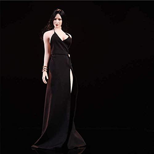 1/6 Abendkleid auf rotem Teppich Kleid Modell Carving Body Zubehör für HT Verycool TTL Gaming PHICEN Schwarz