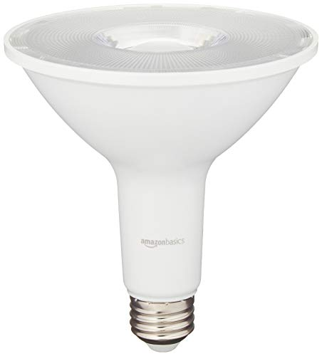 AmazonBasics 90 Watt Equivalent, Daylight, Dimmable, PAR38 LED Light Bulb, 2-Pack