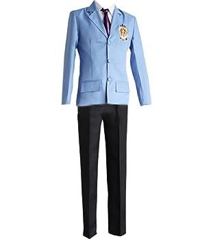 Nsoking Ouran High School Host Club Cosplay Fujioka Haruhi Costume Halloween School Uniform Suit  X-Small