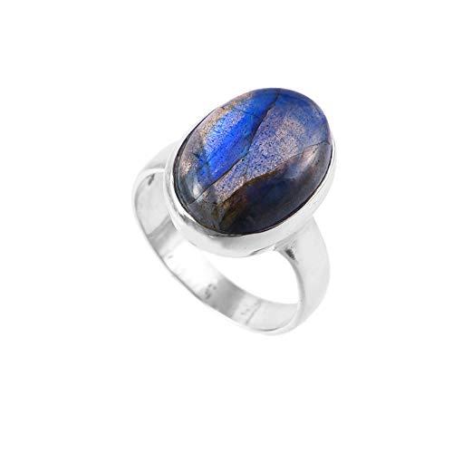 925 Sterling Silver Ring | Natural Labradorite Gemstone Ring for women |Natural Gemstone ring for Girls | Engagement Ring , Astrological Ring, Statement ring , Labradorite Ring | Ring size 7 US