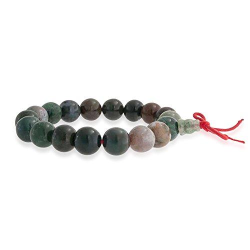 Bling Jewelry Mala Masa Marrón Multi Color Piedra Redonda Abalorios Jasper Estiramiento De Pulsera Mujer Y para Hombres 10 Mm