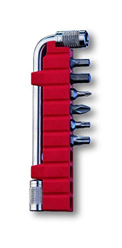 Victorinox Erwachsene Zubehör Schlüssel Bithalter Plus 6 Bits Taschenmesser, Rot, STANDARD