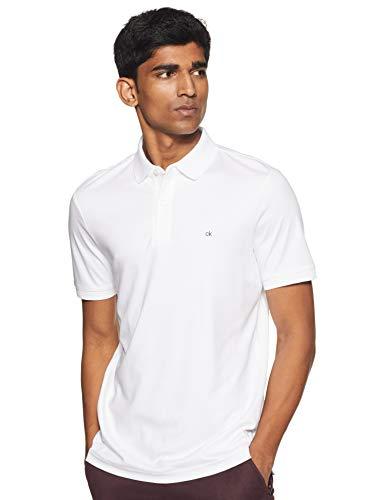 Calvin Klein Soft Interlock Slim Polo Blanco L