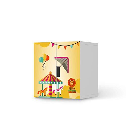 creatisto Möbel-Tattoo für Kinder - passend für IKEA Stuva Schrank - 2 kleine Türen I Tolle Möbelsticker für Kinderzimmer Einrichtung I Design: Löwenstark