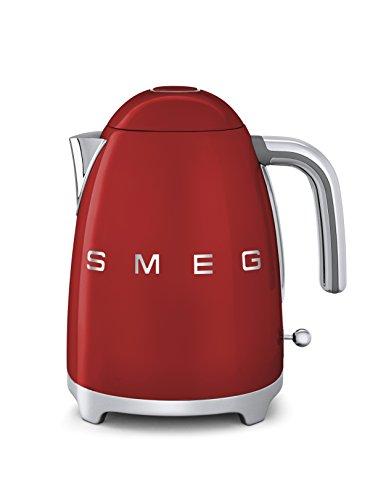 SMEG Bollitore Elettrico KLF01RDEU, 2400 W, 2 Cups, Acciaio Inossidabile, Rosso