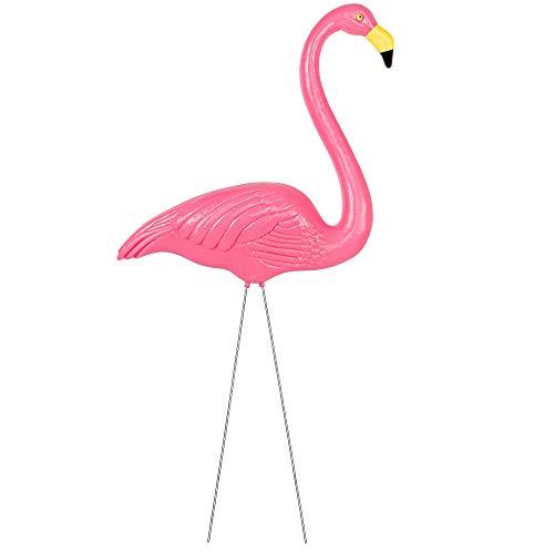 SPRINGOS - Figura decorativa para jardín (60 cm, 70 cm, 85 cm), diseño de flamenco, color rosa, Rosa 85 cm