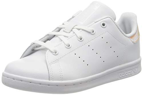 adidas Stan Smith C, Scarpe da Ginnastica, Ftwr White/Ftwr White/Core Black, 34 EU