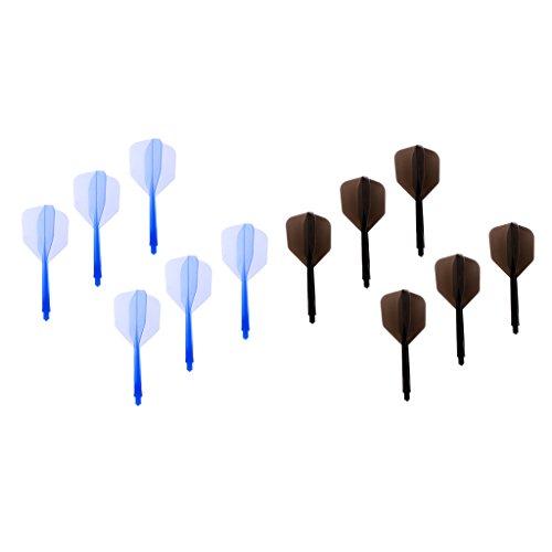 Sharplace Alberi per Freccette da 12 Pezzi con Alette per Freccette Forniture Sportive in Plastica