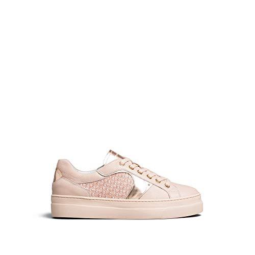 Nero Giardini E010672D - Zapatillas deportivas para mujer de piel y tela Rosa Size: 40 EU