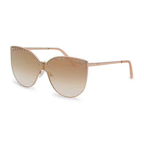 Guess Damen GF6070-0032G Sonnenbrille, Gold, 63/18/130