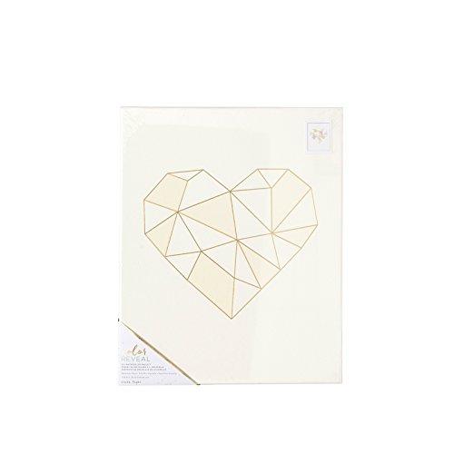 American Crafts Caisse en Papier Aquarelle Motif cœur géométrique 13 x 40,6 cm