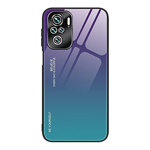 Xiaomi Redmi Note 10 Pro用 背面強化ガラス ケース/カバー背面カバー シャオミ 小米 リドミーノート10 プロ かっこいい スリムなケース おしゃれ アンドロイドカバー(C)