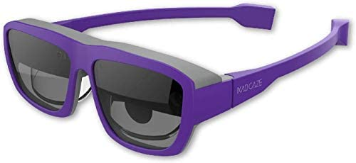 """MAD Gaze Glow Plus – AR MR Binocular Smart Glasses   53° FOV   118"""" Virtual Screen at 1080P HD   Wearable Display   Perfect for Gaming and Turn it into Your Personal Cinema (Violet)"""