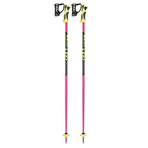 LEKI Sports Bâtons de Ski Adulte Mixte, Rose, Noir, Blanc, Jaune, 110