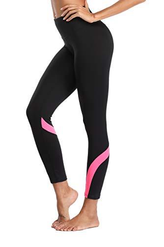 V FOR CITY Damen Leggings Lang Thermo Strumpfhose Yoga Jogginghose Sport Pants Mesh Lauftights S