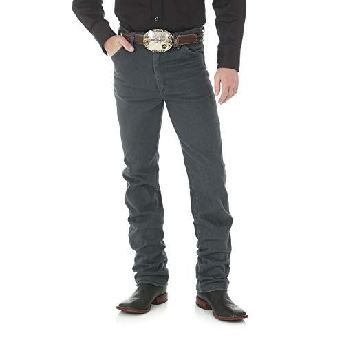 Wrangler Men's 0936 Cowboy Cut Slim Fit Jean, Charcoal Grey, 36W x 32L