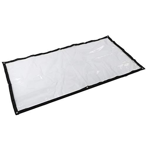 Pflanzenabdeckung, Kunststoff Clear Rain Cover, 1mx2m transparent für Garten Hinterhof Terrasse Camping