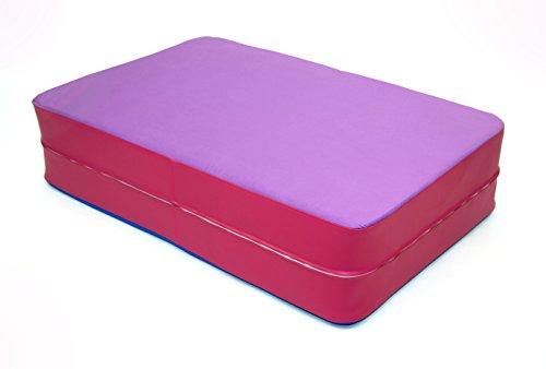 FLIXI Hüpfmatratze – ab 4 Jahre – Turn Matte für Kinder – Spiel Matratze zum Toben - Hüpfen - Balancieren – in Lila Pink