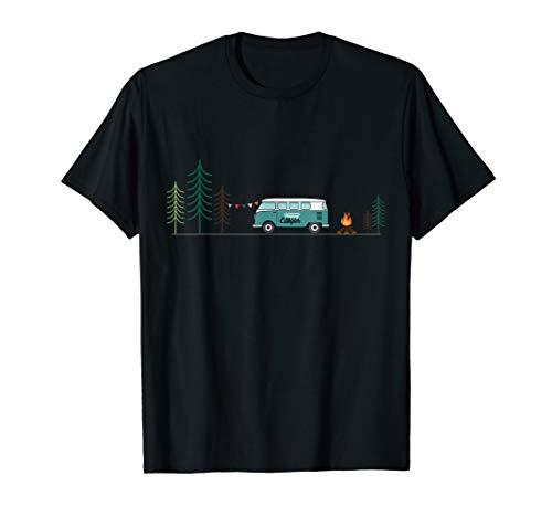 Happy Camper Van Bus Vanlife & Camping Tshirt T-Shirt