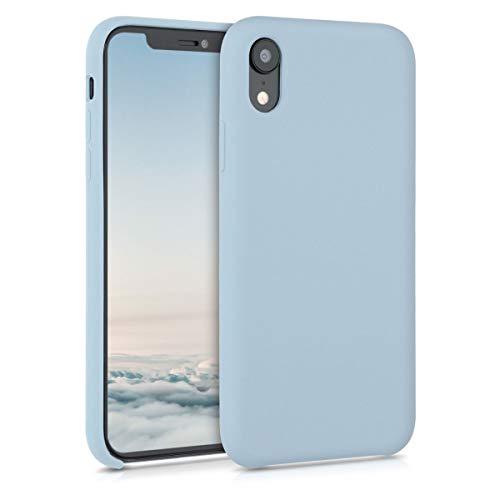kwmobile Hülle kompatibel mit Apple iPhone XR - Handyhülle gummiert - Handy Case in Pastellblau