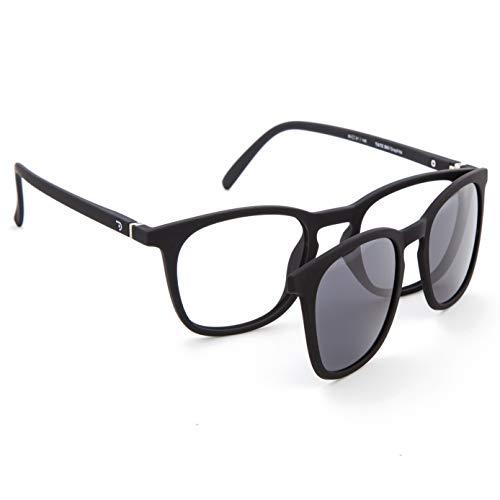 DIDINSKY Gafas de Presbicia con Filtro Anti Luz Azul con Capa de Sol. Gafas Clip on Imantadas para Hombre y Mujer. Graphite 0.0 – TATE CLIP ON