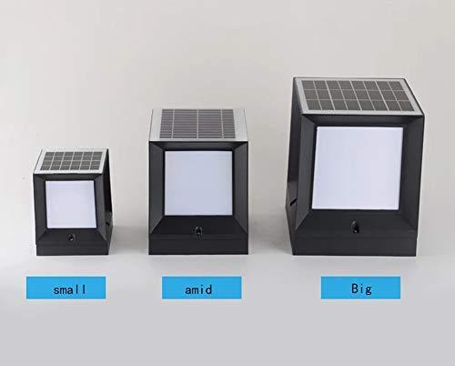 XJBDQX WegeleuchtenAussenanlagen Warm LED-Leuchten, Platz Zaun-Licht-Landschaftslampe Rasen PVC Vinyl Kunststoff,M