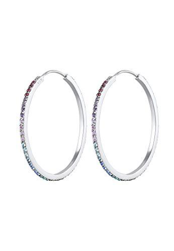 Elli plata de ley 925 plata de ley (925) purpura Crystal
