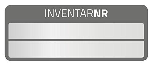 AVERY Zweckform 6921 Aluminium Inventaretiketten (selbstklebend, witterungsbeständig und fälschungssicher, 50 x 20 mm, 50 Aufkleber auf 10 Blatt) silber/schwarz