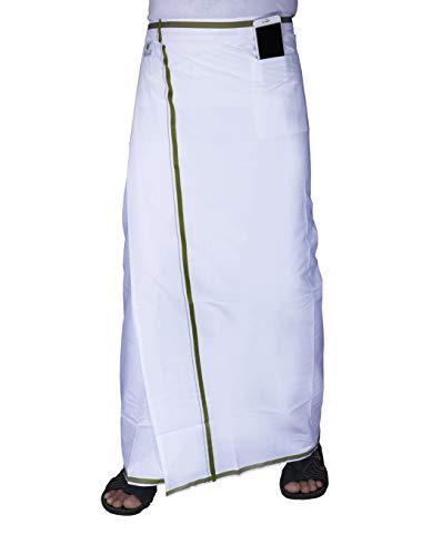Green Tee Men White Velcro Dhoti – Pack of 1