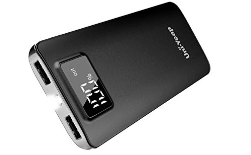 Uni-Yeap 11000mAh Battery Charger Power Bank with High Speed and Flashlight with LCD Screen Compatible for iPhone 11 Xs Xr X 8 7 6s 6 iPad Samsung Galaxy and All Smart Phone (Black)
