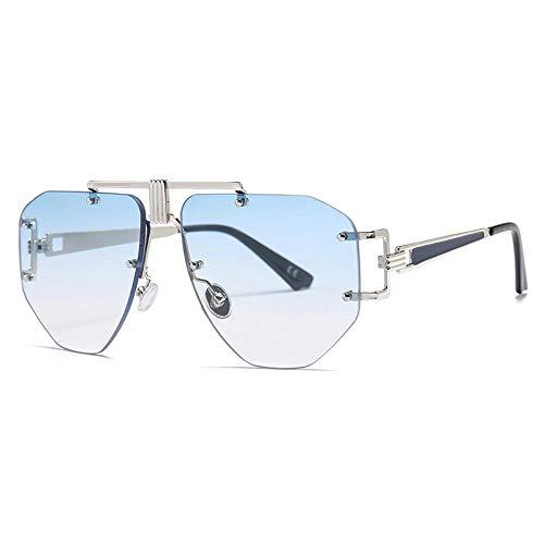 Occhiali da Sole Sunglasses Occhiali da Sole Vintage Senza Montatura Donna Occhiali da Sole retrò Uomo Occhiali da Sole per Pilota Aeronautico Steampunk Designer di Marca Occhiali da Vista 4