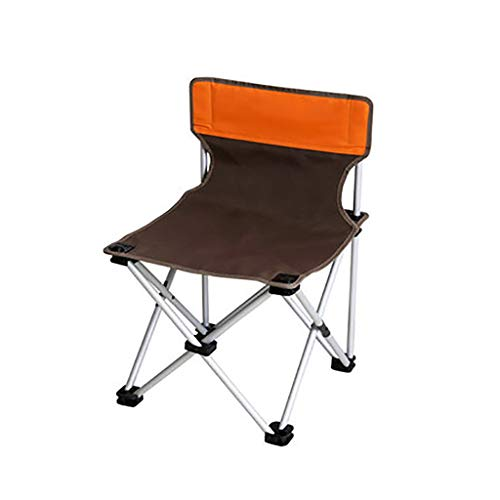 WJP Chaise Pliante de Camping surdimensionnée, Support en Alliage d'aluminium de Haute qualité, Chaise Pliante de Camping Portable, for extérieur/intérieur (Couleur : Marron)
