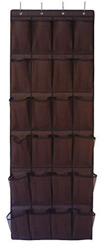 Roomganize Large Shoe Organizer Door Shoe Rack Sneaker Rack Mens Shoe Organizer for Big Shoes to Neaten Up Your Closet and as an Entryway Organizer Bison Brown