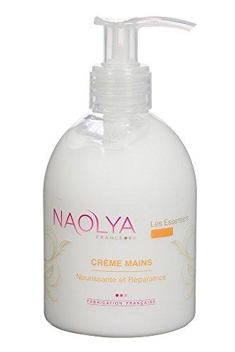 Naolya Crème Mains - Utilisation quotidienne, parfum poudré - flacon pompe 250ml