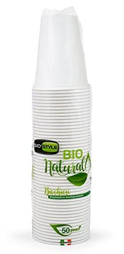 giostyle 50 bicchieri 200 cc bioplastica