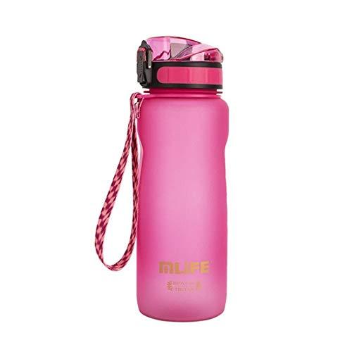 Botella de agua para deportes al aire libre, botella de agua ultraligera, portátil, 1000 ml, para deportes al aire libre, balanza de plástico, prevención de fugas, viajes, escalada, alta capacidad de sellado, unisex, doble com.