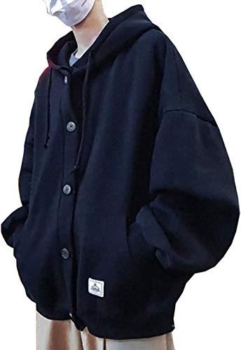 [ Smaids x Smile (スマイズ スマイル) ] ビッグシルエット フード付 パーカー ダボ系 ポケット スウェット 時計 腕時計 tシャツ 洋服 B系 b系ファッション b系 ジーンズ ファッションメンズ 帽子 キレイメ キレカジ お兄系 ブーツ バック オラオラ系 uvカット ダウンジャケット ジャージ上下 個性 個性的 個性的な服 ピアス メンズ (ブラック, L)