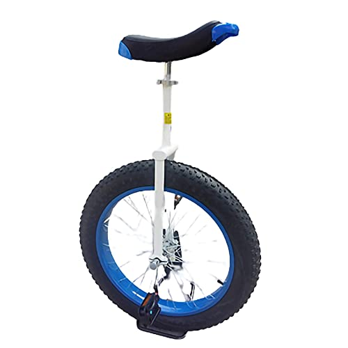 Monociclo Monociclo De 20 Pulgadas De Una Sola Rueda para Niños Y Adultos,Entrenador De Ruedas con Soporte para Monociclos para Un Equilibrio Ajustable Ejercicio Divertido Bicicleta Fitness (Color