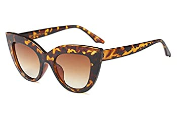 Vintage Retro Cateye Sunglasses for Women Bold Colorful Cat Eye UV400 Protection  Tortoise Shell Brown 65