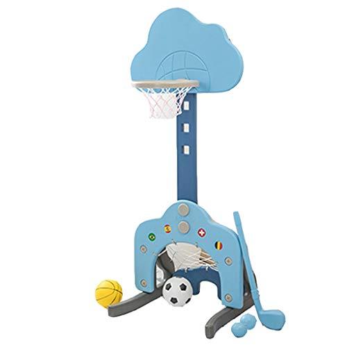 For Sale! YONGMEI 3 in 1 Sport Center Kids Basketball Hoop Stand ,Football Soccer Goal Net and Gol...