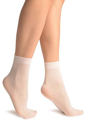 LissKiss White Plain Ankle High Socks - Wei? Socken, Einheitsgroesse (37-42)